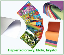 Papier kolorowy, bloki, brystol