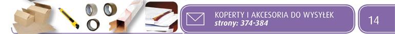Koperty i akcesoria do wysyłek strony:[374-384]
